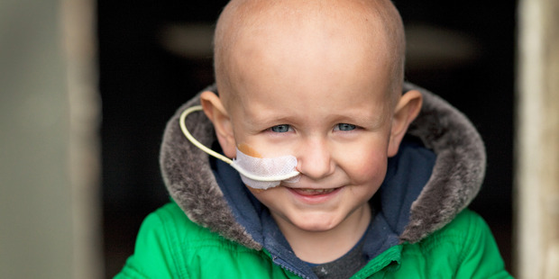 Reef Smith during treatment for acute lymphoblastic leukaemia about a year ago. Photo/Supplied