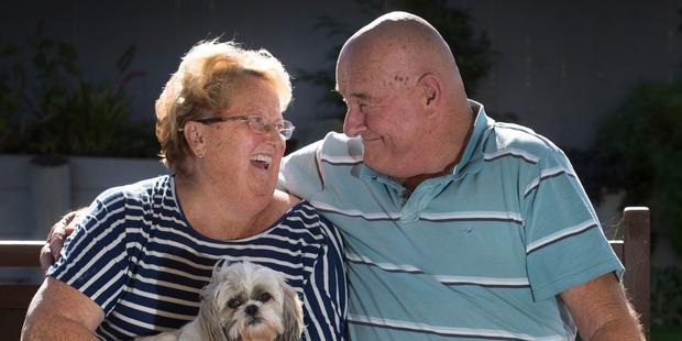 Steve 'Hoppy' Rastovich with his wife Frances. Photo / Brett Phibbs