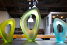 Christine Cathie's works on display at New Zealand Glassworks in Whanganui. Photo Bevan Conley.