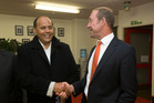 Labour list candidate Willie Jackson with Labour leader Andrew Little.  Photo / Mark Mitchell