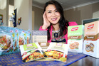 Owner of SP Herb May Poka with her imported Thai food. Photo/ Stuart Munro
