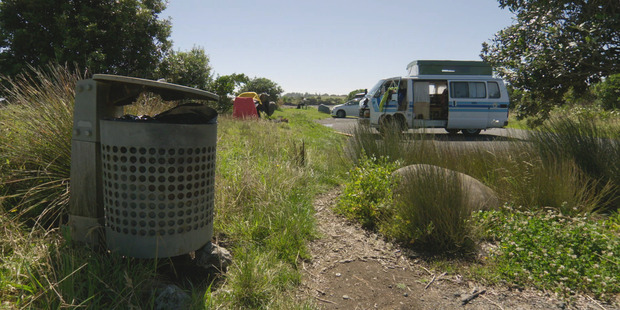 Residents have had a Gutsful of freedom campers. Photo / TVNZ