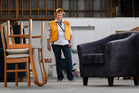 Marilyn McRae, of Te Puna Lions, with some of the furniture that is being donated to Edgecumbe flood victims. Photo / George Novak