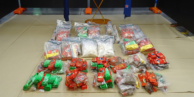 A Customs photo of the 176 kilograms of methamphetamine found in last year's sting. Photo / Supplied