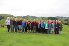 Members past and present of the Strathmore Golf Club, who gathered for the 35th anniversary of the club owning its own land and golf course.