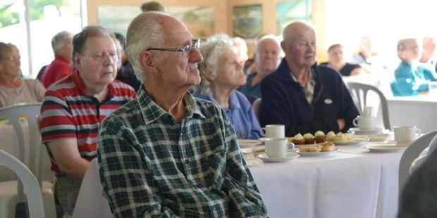 Retired farmers came along to the afternoon tea.