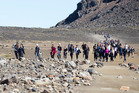 Walkers in the southern crater of the Tongariro Crossing. DoC will develop a series of short walks as it gets a $76m funding boost. Photo / Mike Scott