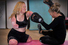 No barriers - Charlotte Cleverley-Bisman is determined to become a great boxer. NZ Herld photograph by Brett Phibbs