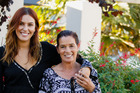 Bachelorette Viarni Bright, 22, and her mum Wendy Bright on her home town visit on the show. Photo / Supplied by Mediaworks