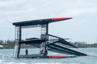 America's Cup defenders Oracle Team USA have already capsized twice during training. Photo: Sam Greenfield/OTUSA
