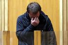 Reuben Lindsay Hill bawling his eyes out after sentencing. Photo/Stuart Munro