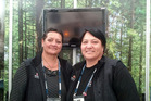 Helen Beckett and Renee Raimona from Whakarewarewa - The Living Maori Village.