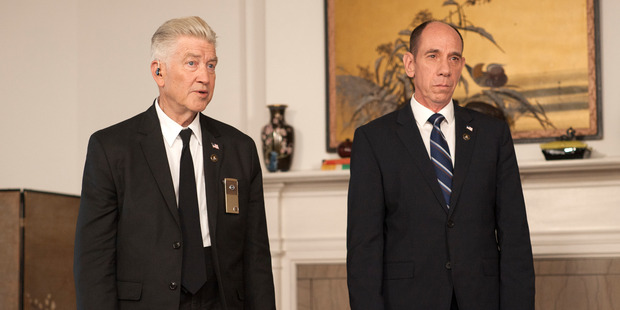 David Lynch and Miguel Ferrer in Twin Peaks. Photo / Suzanne Tenner