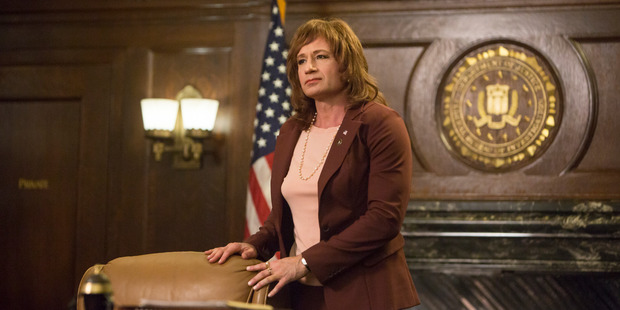 David Duchovny returns as Denise Bryson in Twin Peaks. Photo / Patrick Wymore