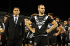 David Kidwell and Simon Mannering. Photo / Photosport.co.nz