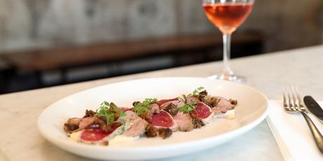 The vitello tonnato - seared tuna, roast veal capers and tuna mayo. Photo / Fiona Goodall