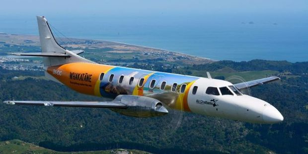 An Air Chathams Metroliner with promotional livery.