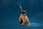 Elizabeth Cui of New Zealand competes in the Women's 3m Springboard Preliminary on Day 7 of the Rio 2016 Olympic Games. Photo / Vaughn Ridley/SWpix.com