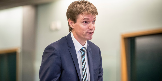 Loading Colin Craig in the High Court at Auckland during his defamation case against right-wing blogger Cameron Slater. Photo / Michael Craig