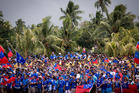 Fans turn out to the historic match between the All Blacks and Manu Samoa in July, 2015, held at Apia Park. Photo / Dean Purcell