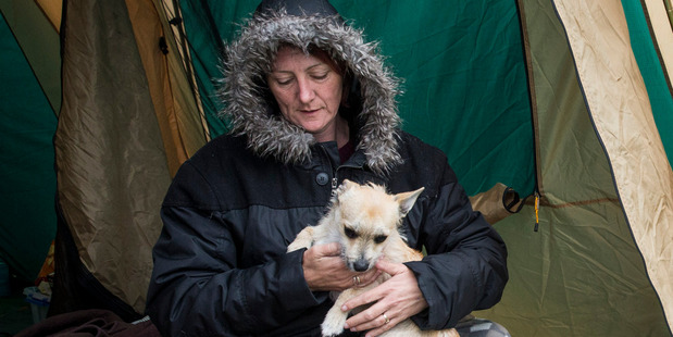 Petrea Allpress-Green was too sacred to sleep in her quake-damaged Waiau house in the days after the November 14 quake, preferring to sleep in a tent.