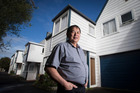 Property investor Ron Hoy Fong, outside one of his properties on Gillies Ave in Epsom. Photo / Jason Oxenham