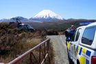Searchers and police in Tongariro National Park during a rescue operation. Photo / Supplied