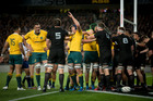 The Wallabies came close to stopping the All Blacks at Eden Park last October. Photo / Dean Purcell