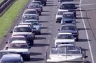 Traffic on the Southern Motorway (SH1) between Manurewa and Takanini. Photo / New Zealand Herald