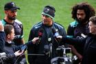 David Kidwell talks to media. Photo / Photosport.co.nz