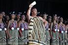 Members of the Tamatea Arikinui group perform at this year's Te Matatini festival, the largest kapa haka event in the world. Photo / Warren Buckland