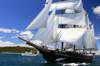 The Spirit of New Zealand - under full sail during this year's Bay or Islands Tall Ships Race - will offer more scholarships to Northland youth. Photo / Stephan Western