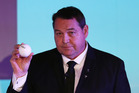 Steve Hansen, Head Coach of New Zealand draws Italy during the Rugby World Cup 2019 Pool Draw. Photo / Getty Images