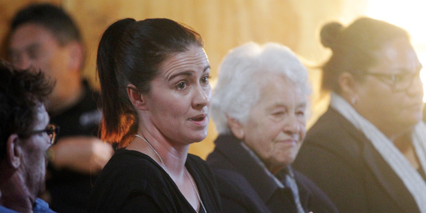 Former addict Alana Geddes attended NZ Drug Foundation hui at the Te Aranga marae in Flaxmere. Photo / Paul Taylor.