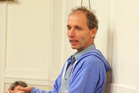 Nicky Hager talks about his new book 'Hit and Run' at Clive Hall. Photo/ Duncan Brown.