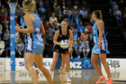 Samantha Sinclair of the Magic in action during the ANZ Premiership match between the Southern Steel and WBOP Magic at the ILT Stadium Southland in Invercargill. Photo/Michael Bradley Photography