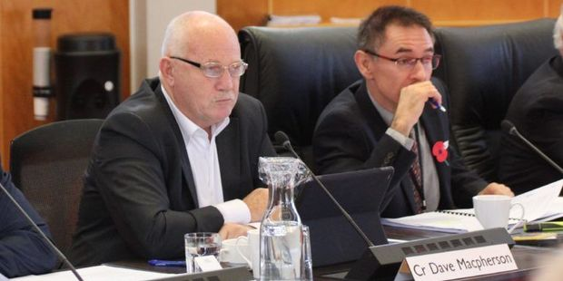With a shared-water management company in sight, Hamilton is now set to consult with two neighbouring councils. Cr Dave Macpherson, left and Cr Gary Mallet both voted for the company to go ahead.  Photos / Cory Brown