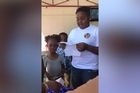 10-year-old Kalani Watson surprised his mother's husband by asking him to officially become his stepfather. Facebook / Porsche Williamson