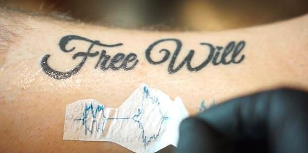 Tattoo artist Nate Siggard, who is behind the app, is one of the first people to test it out. Photo / YouTube