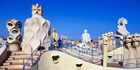 The rooftop walkway of Casa Mila, or La Pedrera, designed by Spanish architect Antonio Gaudi in Barcelona. Photo / Getty Images