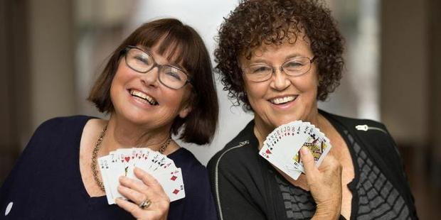 Jenny Wilkinson, left, and Shirley Newton will be flying off to South Korea at the end of the month for the Asia Pacific Bridge Federation Championships.