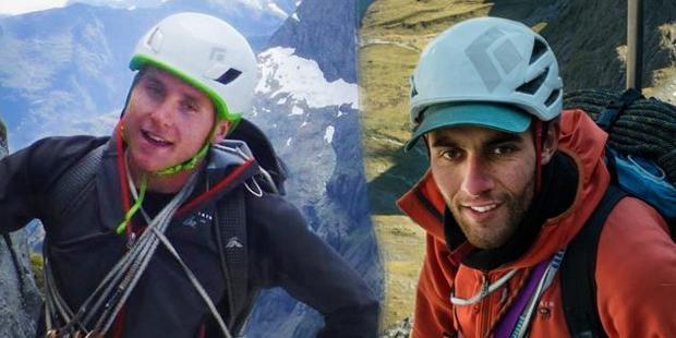 Conor Smith, left, and Sarwan Chand were killed in a climbing accident in Fiordland last Monday. Photo/NZAT