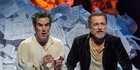 Ross McCormack and Michael Hurst play Mozart and Salieri. Photo / Michael Smithy