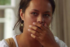 Frankie Adams during her interview with Anika Moa. Photo/Maori Television