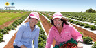 Suzie Clarke from Bundy Food Tours, with Tina Mcpherson from Tinaberries, Bundaberg MUST CREDIT: Paul Beutel For Sunday Travel