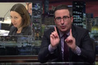 John Oliver says Eminem's beef with New Zealand's National Party is his favourite thing right now. Photo/YouTube