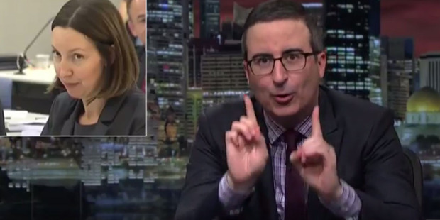 Loading John Oliver says Eminem's beef with New Zealand's National Party is his favourite thing right now. Photo/YouTube