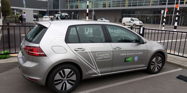 Regular business flyers going to Auckland, Wellington and Christchurch for day-trips can now book a Volkswagen e-Golf free-of-charge for their day's travel. Photo / File