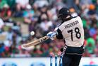 New Zealand's Corey Anderson plays a shot. Photo / Photosport