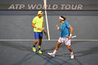 Marcus Daniell and Marcelo Demoliner during the ASB Classic doubles. Photosport